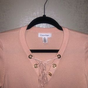 Calvin Klein mid-sleeves pink shirt!